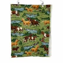 Horse 1 2/3 Yards Fabric 44 Inches Wide VIP Cranston Colts Pasture Derby - $19.79