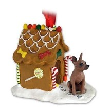 Conversation Concepts Miniature Pinscher Red & Brown Ginger Bread House Ornament - $21.99