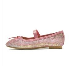 Cat & Jack Girls Toddler Size 5 Pink Lily Glitter Dress Slip-On Ballet Flats NWT image 2