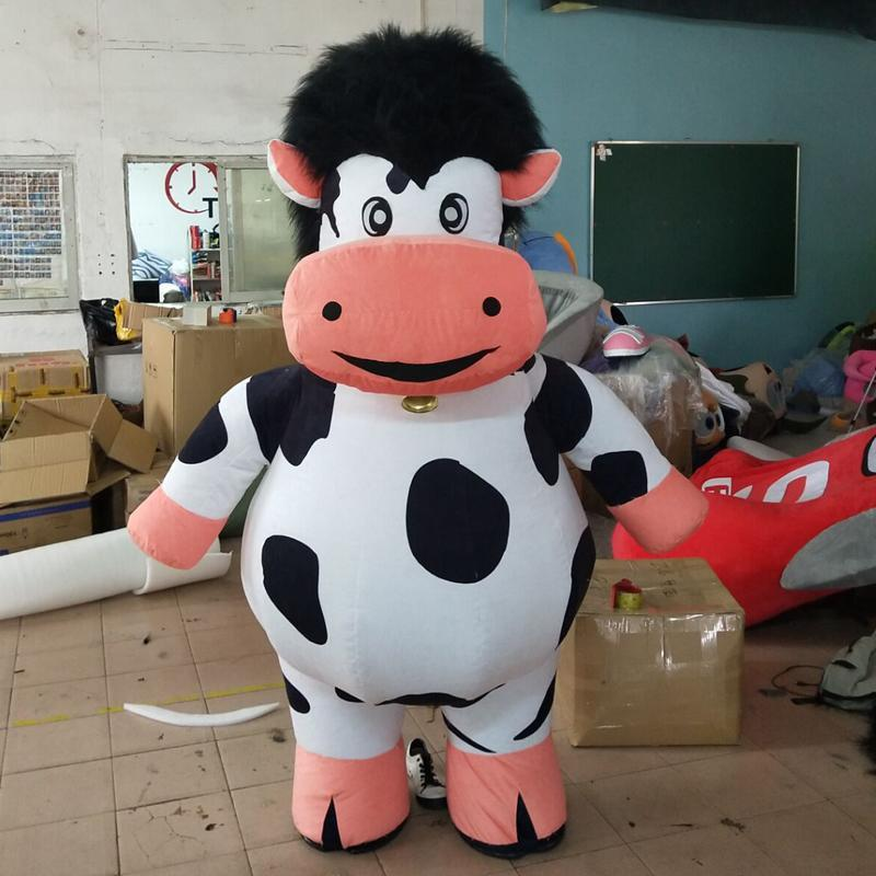 Cow mascot  inflatable doll costumes inflat mascot