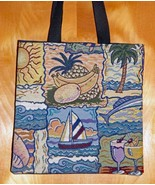 Handmade Tropical Summer Breeze Theme Tapestry Tote - $10.00