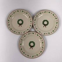 Merry Brite Salad Plates Christmas Wreath Lot of 3 MBT1 - $19.79