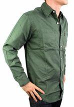 Levi's Men's Cotton Long Sleeve Denim Button Up Dress Shirt Green #81059 size S image 3