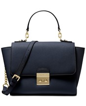 MICHAEL Michael Kors Brandi Top Handle Satchel Admiral Blue/Gold - $246.51