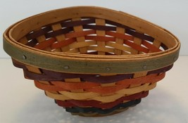 Longaberger Small Fiesta Triangle Basket 2008 Use with Chip and Dip Set - $29.65