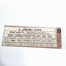 """AMM Expressions Twill Ribbon """"A Mother's Love"""" Scrapbooking Craft 12"""" x ... - $15.48"""