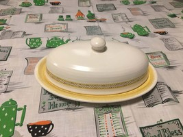 Hacienda Gold Franciscan Earthenware Covered Butter Dish - $22.00