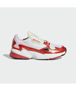 Adidas Originals Women's 90s Style White/Red Falcon Fashion Shoes EE3830 - $109.97