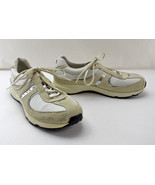 Ecco Beige/Silver Leather Suede Casual Walking Lace-Up Sneakers - Women'... - $37.95