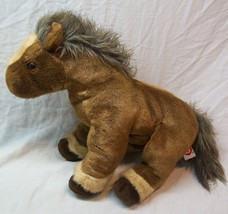 "TY CLASSICS SOFT BROWN TORNADO THE HORSE 13"" Plush Stuffed Animal Toy 2002 - $19.80"