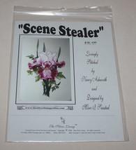 Scene Stealer Purple Iris Charted Cross Stitch Pattern SL177 Silver Lini... - $11.39