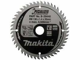 Genuine Makita B-29446 136mm x 20mm x 48T Specialized Laminate Cutting S... - $33.31