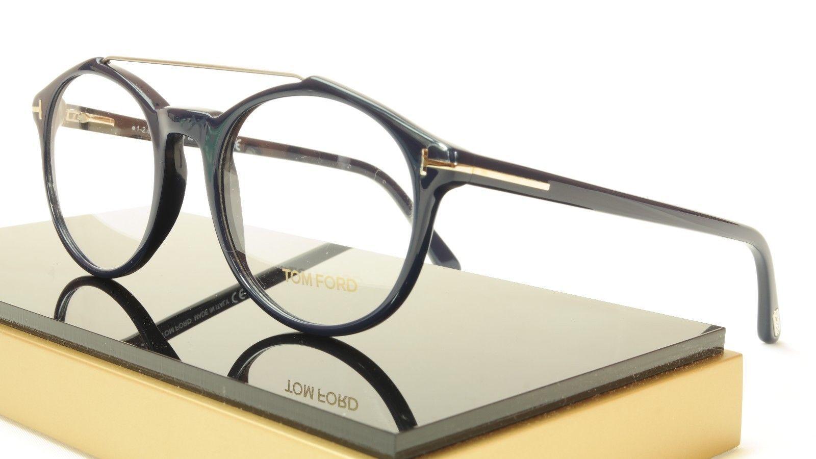 Tom Ford Authentic Eyeglasses Frame TF5455 090 Dark Navy Blue Italy 52-20-145 image 2