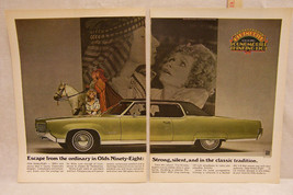 Vintage 1969 Magazine Ad for Oldsmobile Ninety Eight - $5.93