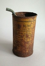 """Vintage Gasoline Measuring Can for Lighting Irons 4.5"""" Tall 2.25 Diameter - $14.60"""