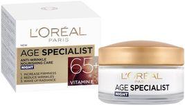 L'oreal Age Specialist 65+ Anti-Wrinkle Nourishing Night Cream 50 Ml - $14.94