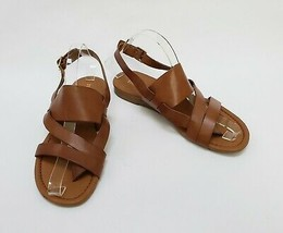 Franco Sarto Shoes Sandals Buckle Brown Tan Gatsby Womens Size 8 M - $59.35