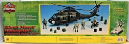 Black Hawk Helicopter 1:18 Scale Action Figure & Motorcycle Elite Operations  image 5