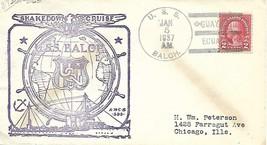 BALCH (DD-363) 5 Jan 1937 Shakedown Cruise Guayaquil Ecuador Richell Cachet - $4.95