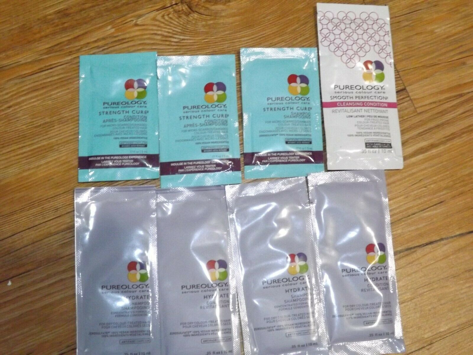 LOT of 8 PUREOLOGY serious colour care Hydrate strength  shampoo & conditioner - $9.90