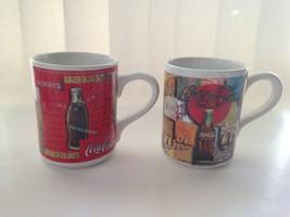 2 Two Vintage Cups 1997 Gibson Coca Cola Collectible Coffee Tea Latte Mug  - $15.79