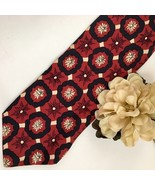 Hugo Boss Red & Black print men's silk business tie - $39.95