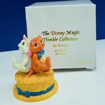 Walt Disney Lenox magic thimble collection figurine Aristocats Marie Tou... - $19.19