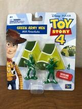 Disney - Pixar Toy Story 4 Verde Ejército Hombres Con Parachutes - $2.75