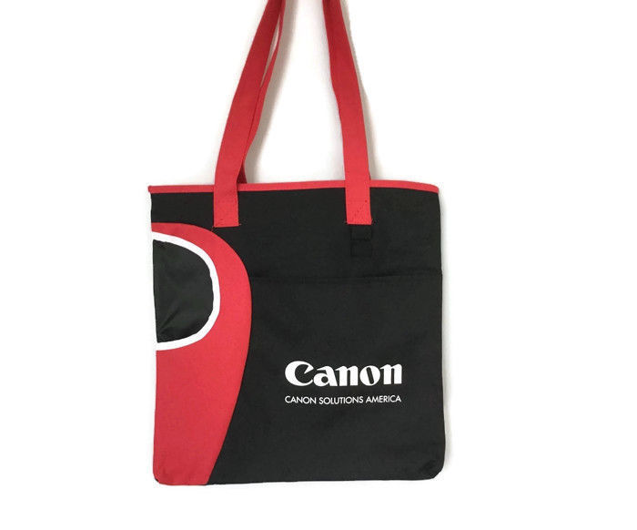 Primary image for Canon Promotional Small Tote Shopping Bag Water Resistant Red Black