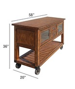 ACME Kadri Kitchen Cart - - Distressed Chestnut - $929.19