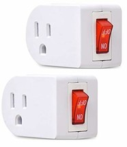 Electes 3 Prong Grounded Single Port Power Adapter with Red Indicator On... - $8.99