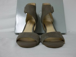 Jessica Simpson 8.5 M Marrionn Taupe Leather Open Toe Heels New Womens S... - $78.21