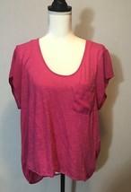 gap xl hot pink shirt sheer sleeves and back - $12.82