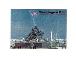 "PICTURE POSTCARD- ""DISTINGUISHED MARINES"" ALL 4 STAMPS-FIRST DAY ISSUE BK8 - $4.90"