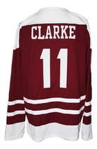 Bobby Clarke #11 Flin Flon Bombers Custom Hockey Jersey New Maroon Any Size image 2
