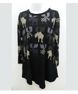 R&B Collection Womens Medium Sweater Tunic Dress Moose Print Long Sleeve... - $19.99