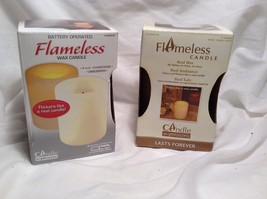 NEW Candle Expressions Real Wax Round Vanilla/Champagne Flameless Candle