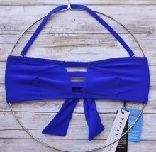 VITAMIN A SWIMWEAR NEUTRA BANDEAU BIKINI TOP ECOLUX AZURE BLUE 60T 8/M N... - £53.70 GBP
