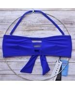 VITAMIN A SWIMWEAR NEUTRA BANDEAU BIKINI TOP ECOLUX AZURE BLUE 60T 8/M N... - $74.95