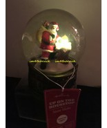 Hallmark 2012 Up On The Housetop Snow Globe Features Light New - $44.99