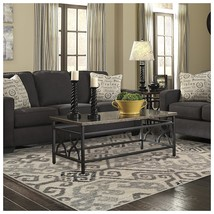 Superior Damask Collection Area Rug, 8mm Pile Height with Jute Backing, ... - $49.37