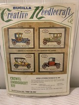 """Bucilla Crewel Embroidery Kit Ford Model """"T"""" antique automobile NEW - $8.90"""