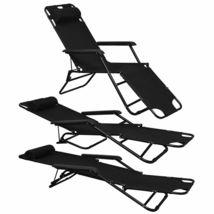 vidaXL 2x Folding Sun Loungers Reclining Chairs 3 Positions Sunbeds 3 Colors image 10