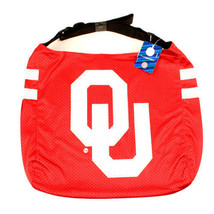 NCAA Oklahoma Sooners Jersey Purse Big Tote Bag -  Boomer Shoulder Strap Red - $18.76