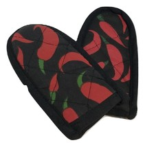 Hot Handle Mitt Set, Red Chili paper designs, Set of 2 - $1.99