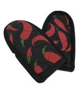 Hot Handle Mitt Set, Red Chili paper designs, Set of 2 - $1.99