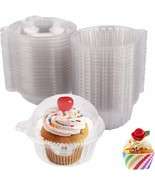 50 Pack Clear Plastic Single Individual Cupcake Muffin Dome Holders  - $14.84