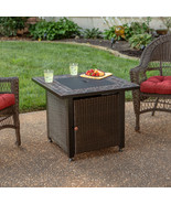 Mr BBQ Lp Firepit Slate Tile 50,000 btu 30 In Patio Deck Fire Table with Insert - $329.00