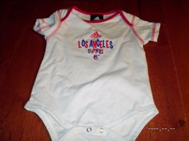 adidas LA Clippers 12M Infant Toddler Youth Jersey Romper One Pc Bodysui... - $9.89