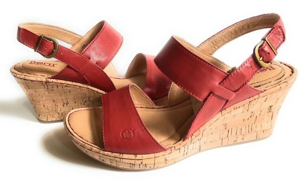 New Born Women Cherry Cork Wedge Leather Sandals Variety Color&Sizes image 2